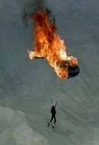 Skydiver's Parachute Catches On Fire! – Documentary